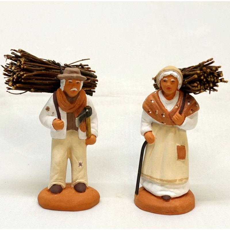 Santons porteur de bois collection DOUCE