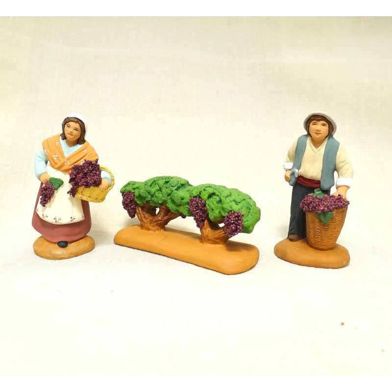Vendangeurs avec vignes 6 cm