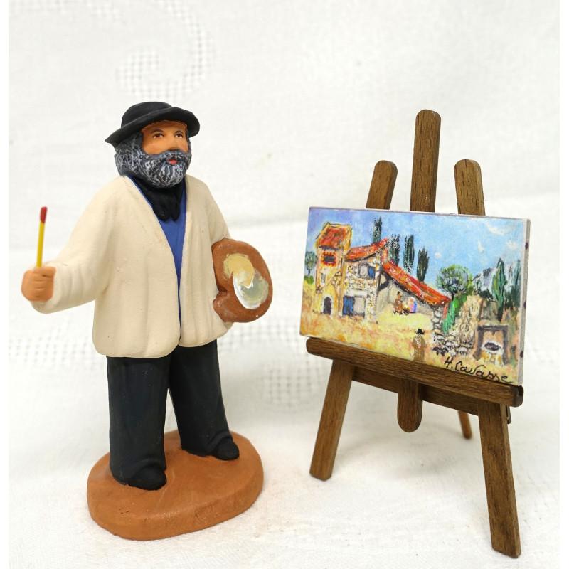 Peintre et son chevalet 9cm