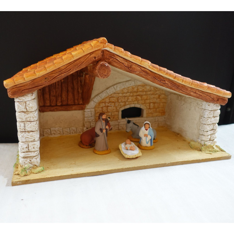 Etable deux toits garnie (6/7cm)