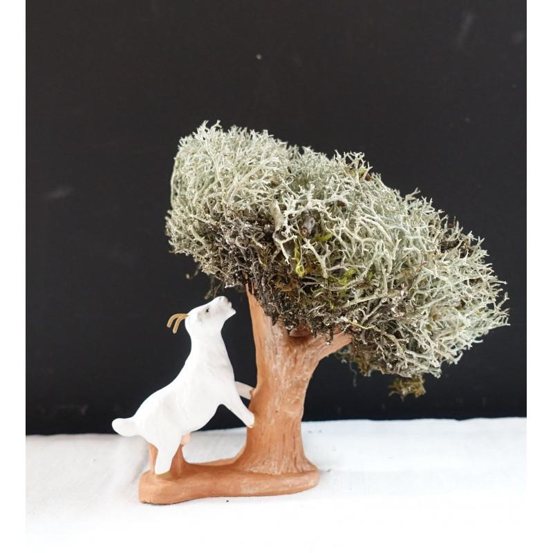 Chèvre broutant l arbre 6cm