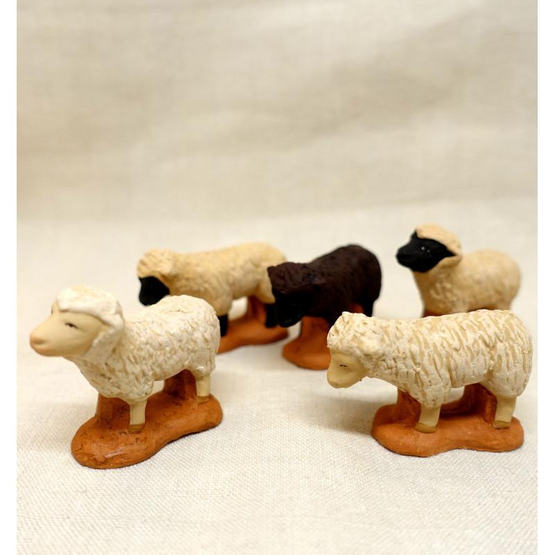 Troupeau de moutons 6/7 cm