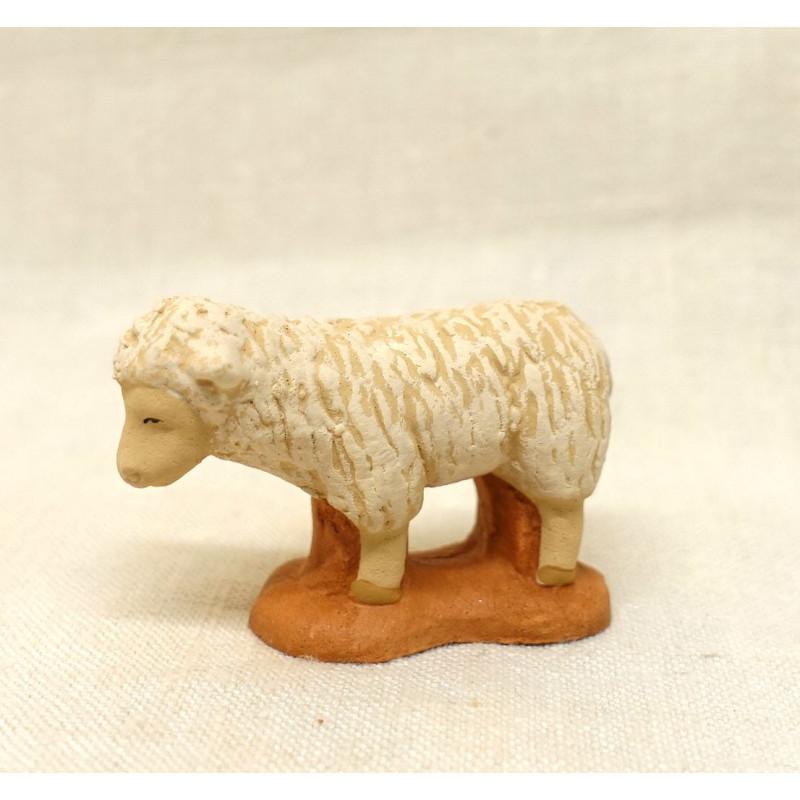 Santon mouton tête droite 6cm