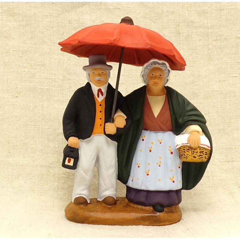 Couple sous le parapluie 9cm