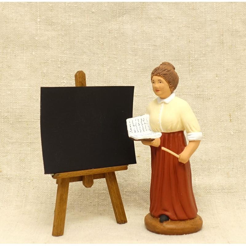 Institutrice 9cm et son tableau noir