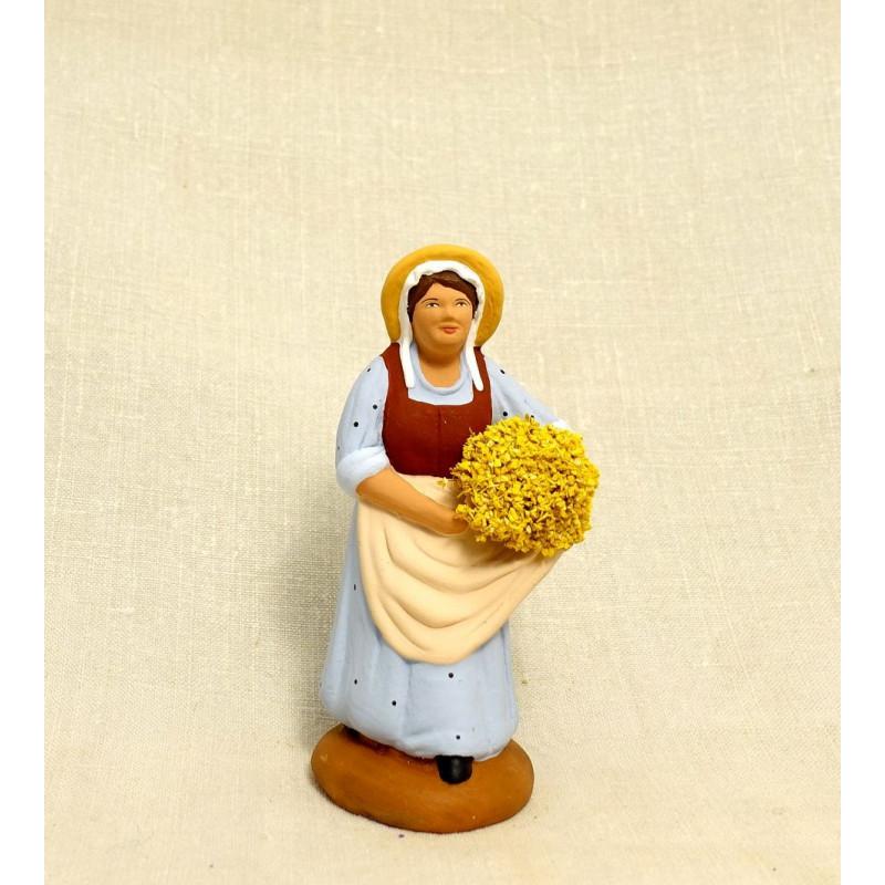 Femme au mimosa 9cm